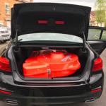 BMW with bike box