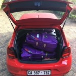 2 bike boxes in VW Polo