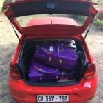 2 bike boxes in VW Polo