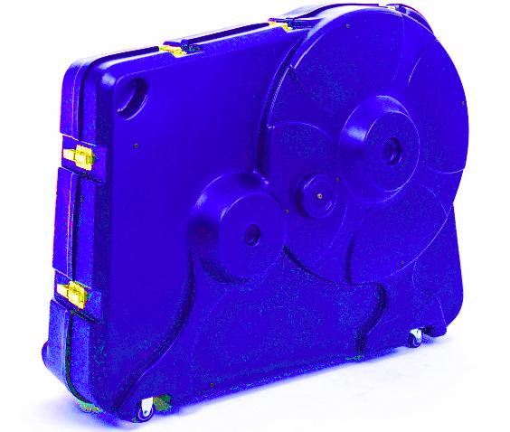 Blue velovault bike box
