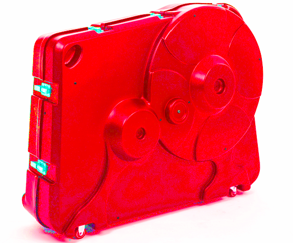 red velovault bike box
