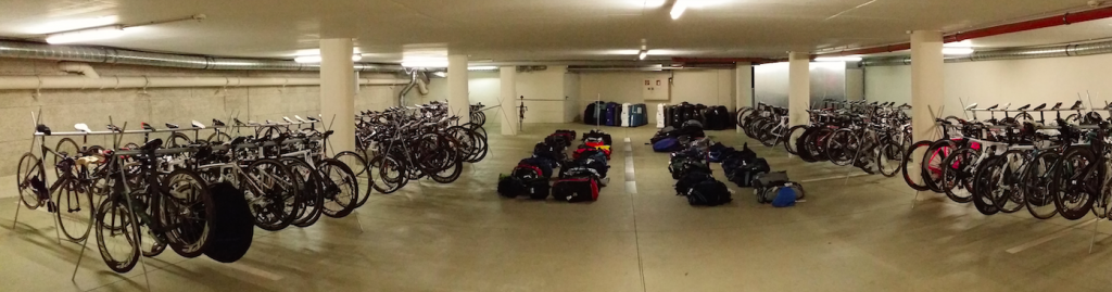 Bikes racked and ready to load